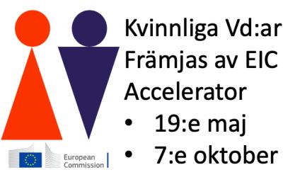 Kvinnliga Vd:ar gynnas i EIC Accelerator