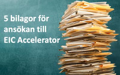 Bilagor till EIC Accelerator ansökan